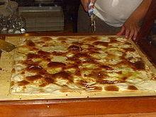 La focaccia con il formaggio di Recco