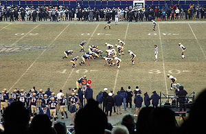 Army–Navy Game - 2002 Army–Navy Game at Giants Stadium. Navy is in dark and Army is in white.