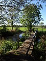 Footbridge over Bickerley Mill Stream - geograph.org.uk - 1540894.jpg