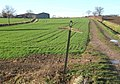 Footpath crossroads, looking towards Overhall Farm - geograph.org.uk - 653648.jpg