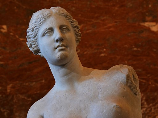 Foreground of the Venus de Milo