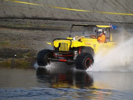 Formula Off Road Driving On Water