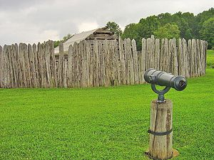 Battle of Fort Necessity - Image: Fort Necessity With Cannon