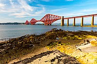 Forth Bridge seen from South Queensferry beach (Aug 2016).jpg