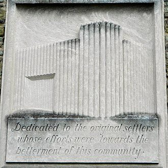 Forty Fort, Pennsylvania - Relief on the Borough Hall