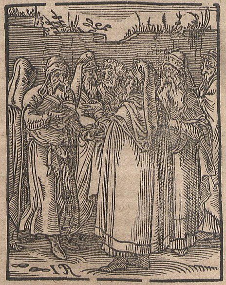 Jewish Kabbalists portrayed in 1641; woodcut on paper, Saxon University Library, Dresden.