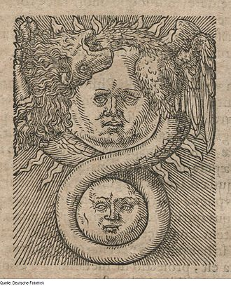 Azoth - Fourth woodcut illustration from Basil Valentine's Azoth (1613)