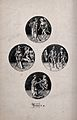 Four circular compositions with scenes from the dance of dea Wellcome V0042054.jpg