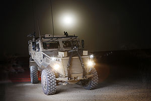 Ocelot (vehicle) - Foxhound shown at Camp Bastion, Helmand, Afghanistan