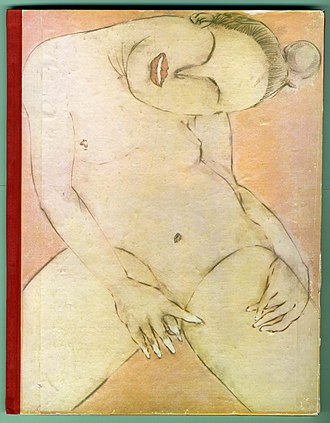 Francesco Clemente - Cover of Francesco Clemente Pinxit, artist's book, 1981