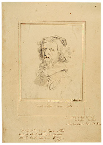 Francis Cleyn - A 17th– or 18th-century drawing of Cleyn by George Vertue, possibly based on a 1646 portrait