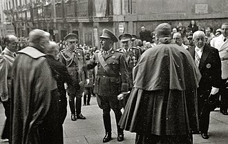 Francoist Spain - Franco with Catholic Church dignitaries in 1946