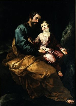 St Joseph and the Child, Oil on canvas, Museo ...