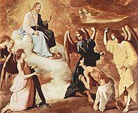 San Jerónimo flagelado por los ángeles 1639 (235 x 290 cm.), Claustro de los Jerónimos Guadalupe