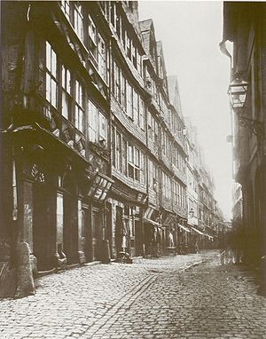 Jewish ghettos in Europe - Frankfurter Judengasse in 1868