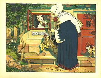 Rule of three (writing) - Snow White receives three visits from her wicked stepmother