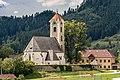 Frauenstein Obermühlbach 70 Pfarrkirche hl Georg NO-Ansicht 21082017 5392.jpg