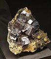 Freiberg, Terra mineralia, Galenit, Sphalerit und Calcit.JPG