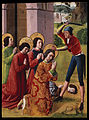 French - Martyrdom of Saints Cosmas and Damian with their Three Brothers, part of an altarpiece - Google Art Project.jpg