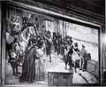 Friedrich Klein-Chevalier (1861-1931), Wandgemälde im Sitzungssaal des Neuen Rathauses Düsseldorf, Jan Wellem besichtigt die Päne zum Schloßbau in der Neustadt 1708.jpg