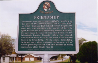 Friendship, Oklahoma Town in Oklahoma, United States