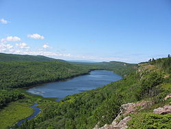 The Lake of the Clouds in the Porcupine Mountains of the Upper Peninsula of Michigan