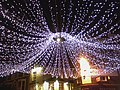 Full moon through Christmas lights in January - geograph.org.uk - 330295.jpg