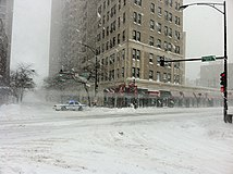 Fullerton and Clark blocked by police 2 Feb 2 2011 storm.JPG