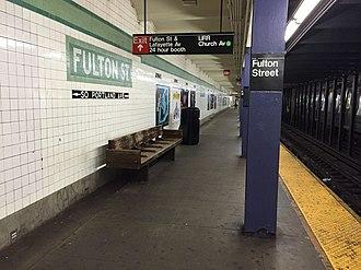 Fulton Street (IND Crosstown Line) - Northbound platform