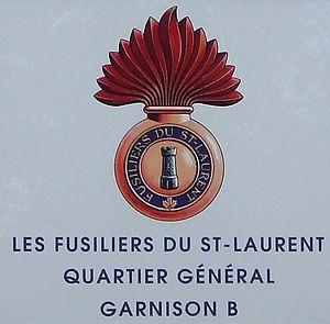 Les Fusiliers du St-Laurent - Insignia of les Fusiliers du St-Laurent