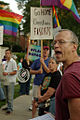 GLN activist Andy Thayer speaking at Exodus protest (3748521496).jpg