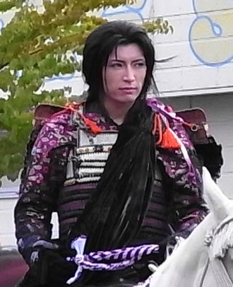 Gackt - Gackt as Uesugi Kenshin at Jōetsu city's 83rd Kenshin Festival in 2008, a role he carried since 2007.
