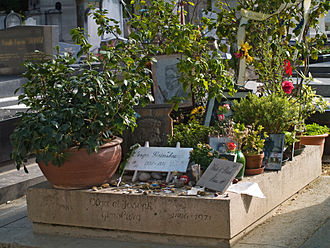Serge Gainsbourg - The gravesites of Serge, Olga and Joseph Gainsbourg