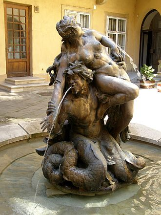 Merman - Triton with a Nymph
