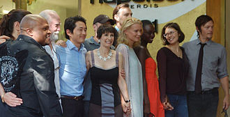 Gale Anne Hurd - Hurd with the cast of The Walking Dead in October 2012