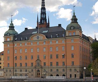 Old Parliament House, Stockholm - Gamla riksdagshuset, 1911 facade.