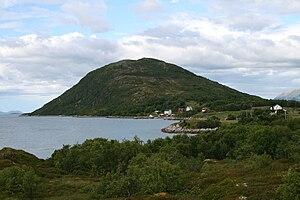 Kvæfjord - View of the island of Gapøya