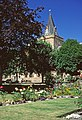 Garden at Dornoch with Cathedral. - geograph.org.uk - 684559.jpg