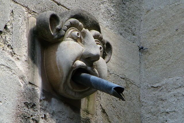 Gargoyle at Magdalen College, one of the constituent colleges of the University of Oxford in the United Kingdom