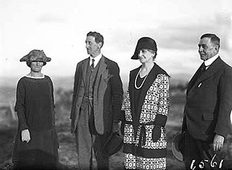 Robert Garran - Garran and his wife Hilda (second and first from left respectively) and their friends Sir Littleton Groom and his wife Jessie (first and second from right respectively), photographed at Telopea Park in 1926.