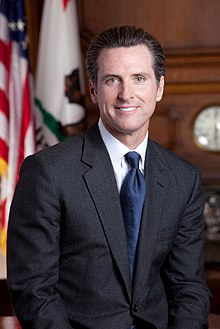 Gavin Newsom - the friendly, fun, charming, clever,  politician  with British, Irish, Scottish,  roots in 2019