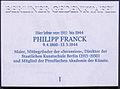 Gedenktafel Hohenzollernstr 7 (Wanns) Philipp Frank.jpg