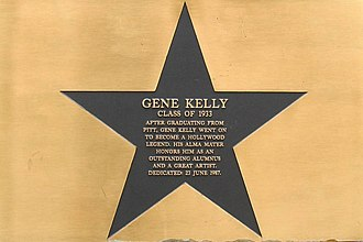 Gene Kelly - Plaque honoring Gene Kelly at his alma mater, the University of Pittsburgh