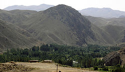 The Iranian landscape is predominantly mountainous, with high contrasting green oases. (Image was taken in the southern Alborz range near Firouzkuh)
