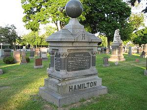 Hamilton cemetery - George Hamilton's monument