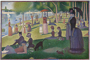 Sunday Afternoon at the Grande Jatte by Georges Seurat (Louvre)