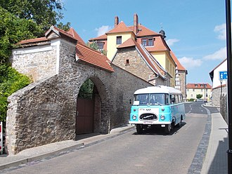 Gerbstedt - View of Gerbstedt with a rare Robur bus