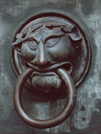 Door handle on the Dom (Cathedral) St. Maria.