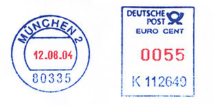 Germany stamp type RB25 blue red.jpg