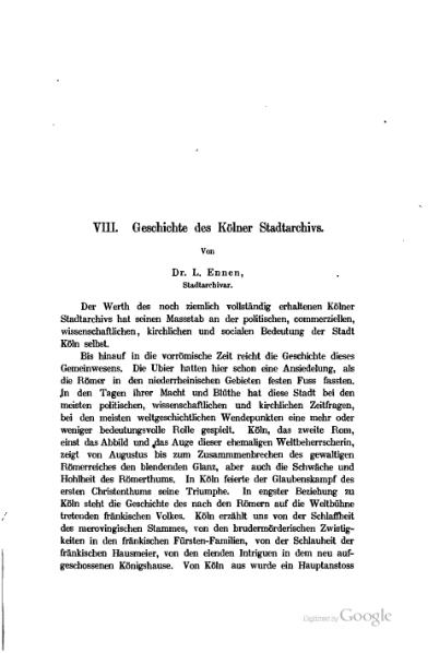 File:Geschichte des Kölner Stadtarchivs (Leonhard Ennen).djvu